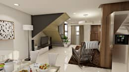 Brand new 2 storey house - Living room and Dining space: modern Living room by Architecture Creates Your Environment Design Studio