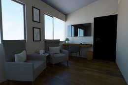 Vista sala en recamara: Recámaras de estilo moderno por eleganty