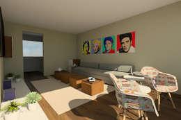 Vista Cuarto TV: Estudios y oficinas de estilo moderno por eleganty