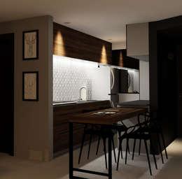 Vista Cocina: Muebles de cocinas de estilo  por eleganty