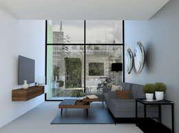 Vista Sala: Salas de estilo moderno por eleganty
