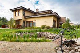 «Солнечная Резиденция», Дом в Румболово, 260 м.кв.: Tерраса в . Автор – Дизайн элитного жилья   Студия Дизайн-Холл