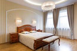 «Солнечная Резиденция», Дом в Румболово, 260 м.кв.: Спальни в . Автор – Дизайн элитного жилья   Студия Дизайн-Холл