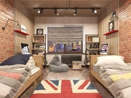 Трехкомнатная квартира в стиле лофт: Детские комнаты в . Автор – Rerooms