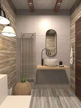 Трехкомнатная квартира в стиле лофт: Ванные комнаты в . Автор – Rerooms
