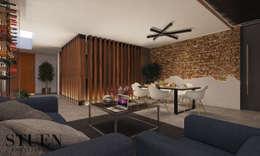 Area Social Comedor: Comedores de estilo moderno por Stuen Arquitectos