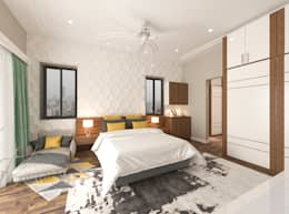 Guest bedroom: modern Bedroom by Samanta's Studio