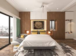 Master Bedroom: modern Bedroom by Samanta's Studio