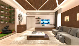 Living area tv unit: modern Living room by Samanta's Studio