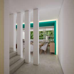 vestíbulo de acceso:  de estilo  por studio arquitectura