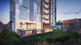 Área externa:   por Rodrigo Santos Arquitetura