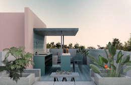 Terraza: Terrazas de estilo  por RA!