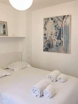 Appartamento a Parigi: Camera da letto in stile in stile Rustico di smellof.DESIGN
