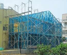 雙型鋼配置:   by 安居住宅有限公司