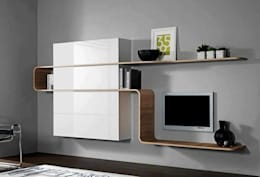 Modern TV Cabinet Wall Unit- Living room: modern Living room by Innoire Design