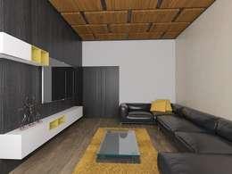 Casa M: Salas de estilo moderno por emARTquitectura