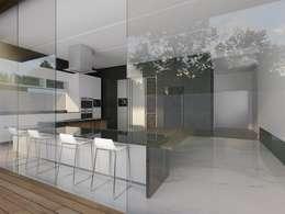 Casa M: Cocinas equipadas de estilo  por emARTquitectura