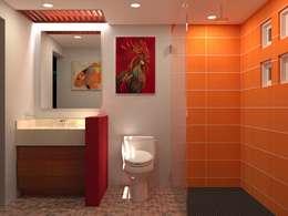 Renovacion Casa Habitacion Aviara Santa Fe: Baños de estilo  por OLOR A NUEVO
