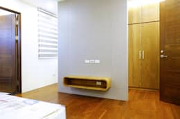 安平區自定義豪宅:  臥室 by houseda