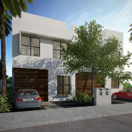 fachada principal:  de estilo  por studio arquitectura