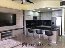 Cocina 2: Cocinas equipadas de estilo  por Athalia cocinas y Carpinteria