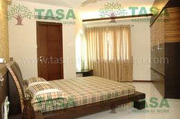 Bedroom Designs for indian homes: modern Bedroom by TASA interior designer