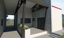 Granny Flat Patio:  Patios by A4AC Architects