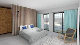 Master Bedroom: modern Bedroom by A4AC Architects
