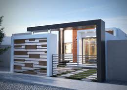 CASA HEREDIA: Casas multifamiliares de estilo  por BENPE ARQUITECTOS