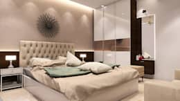 MASTER BEDROOM: modern Bedroom by K Square Architects