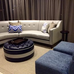 All soft furniture in this picture : classic Living room by CS DESIGN