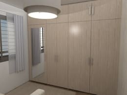 Recámara de visitas vista closet:  de estilo  por 78metrosCuadrados