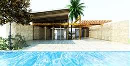 CASA GUASACATE: Albercas naturales de estilo  por Fstudio Arquitectura