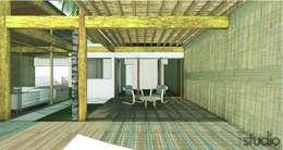 CASA GUASACATE:  de estilo  por Fstudio Arquitectura