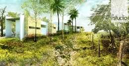 CASA GUASACATE: Estanques de jardín de estilo  por Fstudio Arquitectura