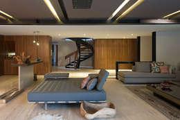 Sala: Salas de estilo moderno por Paola Calzada Arquitectos