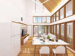 Rumah Ibu Siska:  Ruang Keluarga by SEKALA Studio
