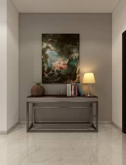 Interiors:  Corridor, hallway & stairs  by Spaces Alive
