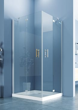 DUŞES KABİN SİSTEMLERİ SAN.TİC.LTD.ŞTİ. – İki Sabit İki Açılır Nokta Menteşe Kapı: modern tarz Banyo