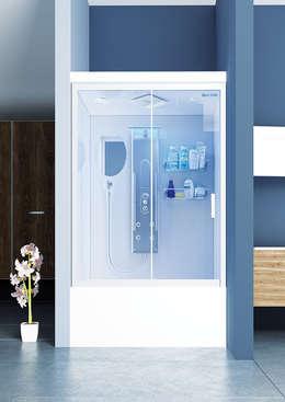 DUŞES KABİN SİSTEMLERİ SAN.TİC.LTD.ŞTİ. – Ön Cephe Kompakt Kabin: modern tarz Banyo