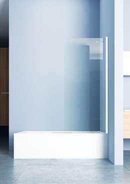 DUŞES KABİN SİSTEMLERİ SAN.TİC.LTD.ŞTİ. – Açılır Boy Menteşe Panel: modern tarz Banyo