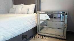 Recamara y Muebles para Cuarto de Lavado: Recámaras de estilo moderno por Athalia cocinas y Carpinteria