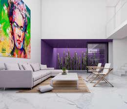 CASA G - GUADALAJARA JALISCO, MEXICO.: Salas de estilo minimalista por Obed Clemente Arquitecto