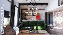 Projekty,  Salon zaprojektowane przez Loft&Home