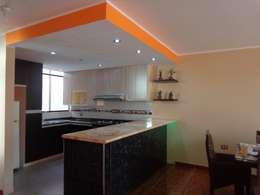 Cocina - Callao: Muebles de cocinas de estilo  por MARSHEL DUART SRL