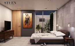 Recamara : Recámaras de estilo moderno por Stuen Arquitectos