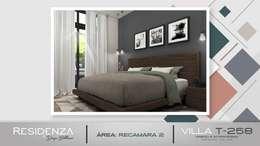 RECAMARA 2: Recámaras de estilo moderno por Residenza by Diego Bibbiani