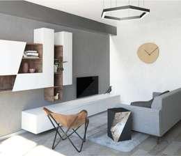 scandinavian Living room by interiorbe SRL