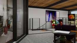 Loft Condesa: Estudios y oficinas de estilo moderno por Integra Arquitectos