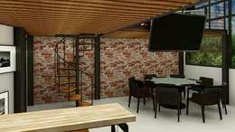 Loft Condesa: Comedores de estilo moderno por Integra Arquitectos